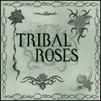 Tribal Roses by gothika-brush