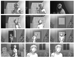 RAID: Law's Intro storyboard - page one by ReincarnatedParano
