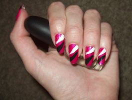 Streaked nails by jenna-daydreamer93