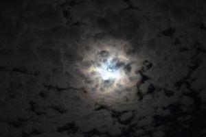 Moon Behind Clouds 001 - Hb593200  by hb593200