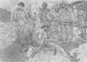 The Death of Captain Waskow, Italy, December 1943 by FritzVicari