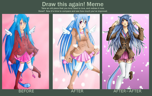Neko Blue Draw This Again by blackcat-productions