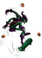 green goblin does the alley loop by richard-chin