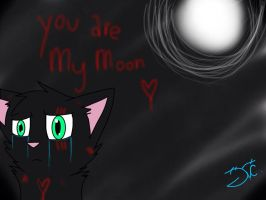 You are my moon.. by xXFluffehWolfXx