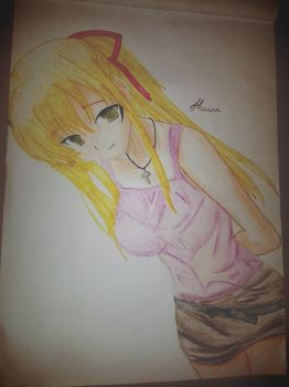 anime girl by shiviumeshh