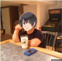 Hetalia Vine - gif - Japan and America by SydneyA