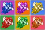 Warhol Raccoon Mario by luke314pi