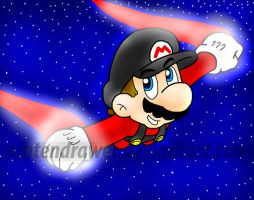 flying mario by Nintendrawer