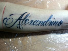 Another letter tattoo, done today by flaviudraghis