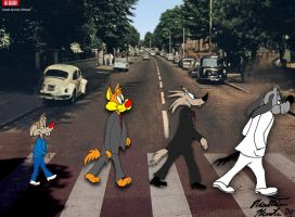 Bill and Buster Abbey Road by MatthewHunter