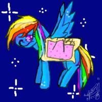 Nyan Cat Rainbow Dash by XRadioactive-FrizzX
