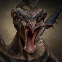 Mouthy Creature closeup by BrookeDibble