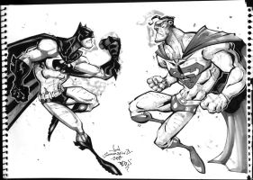 Superman Batman ConSketch by Red-J