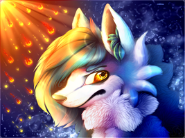 Fire and Ice Heart by QueenEgg