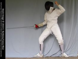 Epee Fencer Stock by Cassy-Blue