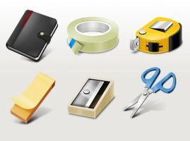 Office supplies icons by FreeIconsFinder