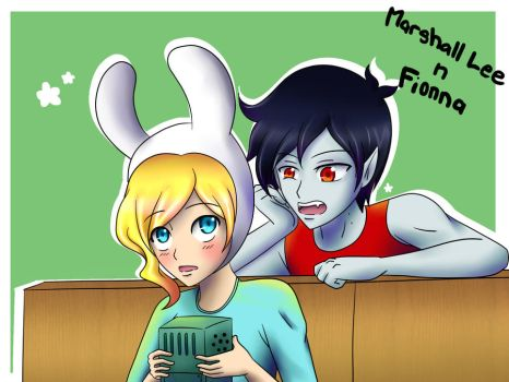 AT: Marshall Lee n Fionna by anvilgurl