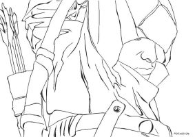 Connor Line Art from Assassin's Creed III by Malakhite