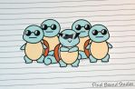 Chibi Squirtle Squad  Sticker by pixelboundstudios