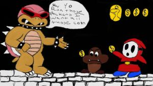 Roy Bully Koopa collecting his dues by keymakernyc