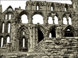 Whitby Abbey Ruins by Estruda