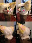 FenneCat fursuit head by Tiny1Badger