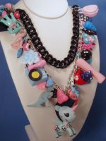 Punk Rock Bubblegum Charm necklace by PoniesOfDOOOM