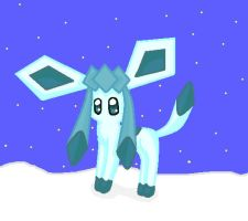 Glaceon X3 by CoolUmbreon