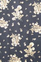 Fabric texture - black and gold floral by jojostock