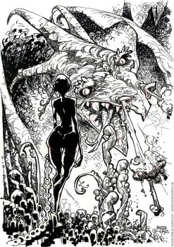 She and the dragon by rogercruz