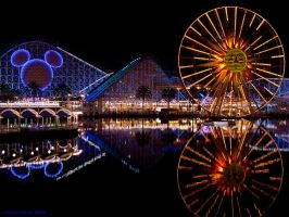 California Adventure by night by Twisted--Pixels