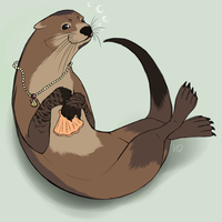 Otter commission. by Volcano-Queen
