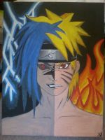 cursed sasuke and kyuubi naruto by beccahanks