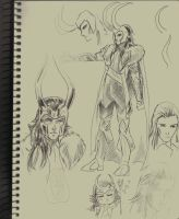 Loki new suit design doodles by liaartemisa
