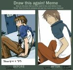 Draw This Again: 2001 v. 2012 by maedai