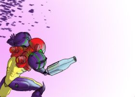 Samus Aran Purple Nurple by DrGear