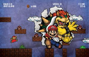 Mario And Bowser by EveryOneLies