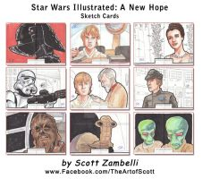 Star Wars Illustrated Sketch Cards by TheArtofScott