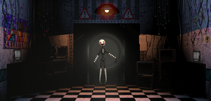 puppet in the hallway by NachoTheDorito