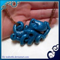 Gold Spotted Octopus Necklace by lily-inabottle