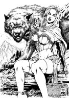 Red Riding Hood Inked by MARCIOABREU7