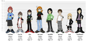 Our Digidestined - Size Chart by Cachomon