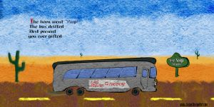 Commission: Kid's Desert Bus Page Road by Judan