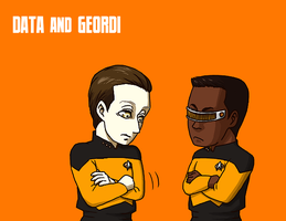 Data and Geordi. by hasze