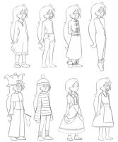 Sofia outfits by The-Padded-Room