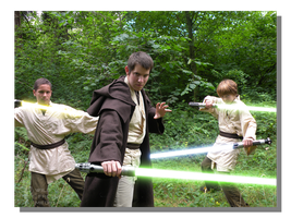 Jedi Knight and Apprentices by WillFactorMedia