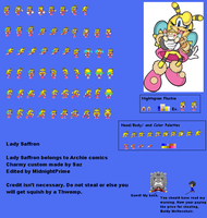Lady Saffron Bee Sprite Sheet by MidnightPrime