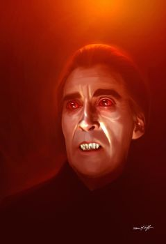 CHRISTOPHER LEE DRACULA by willman1701