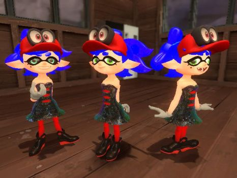 JCR: The Squid Sister with multiple personalities by Awesomejcr