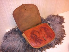 Norse leather belt bag 2 by Zarganath